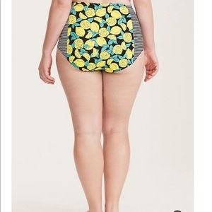 Lemon striped bikini bottom, torrid
